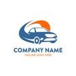car rental logo template. unique. vector. editable