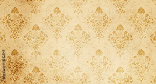 stary-pozolkly-tlo-z-kwiatowym-wzorem