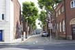 The empty street in one way street.