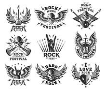 Rock Music Festival Logo, Illu...