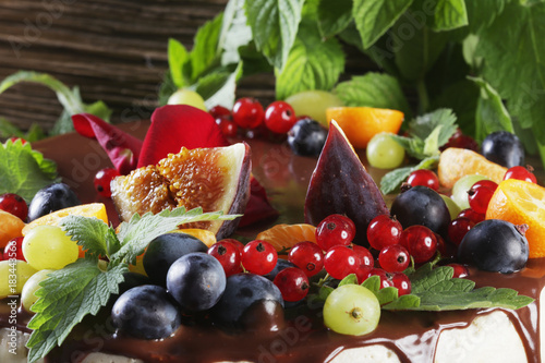Cadres-photo bureau Fruits juicy fruit cake