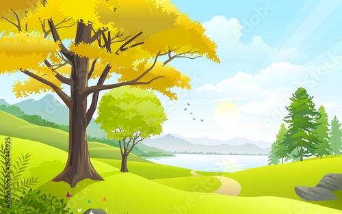 Poster Jaune tree