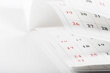 Calendar Pages Close Up Busine...