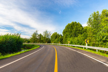The Curve Road And The Guardrail