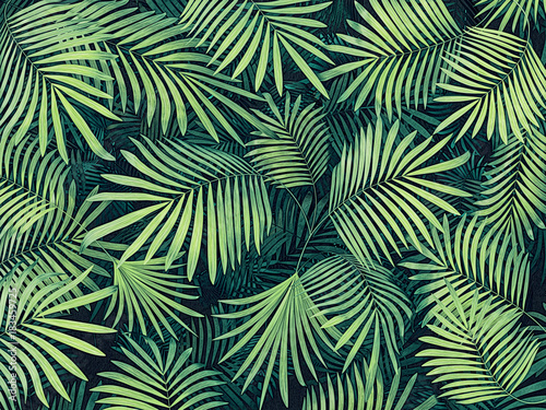 tropical  background Wallpaper Mural