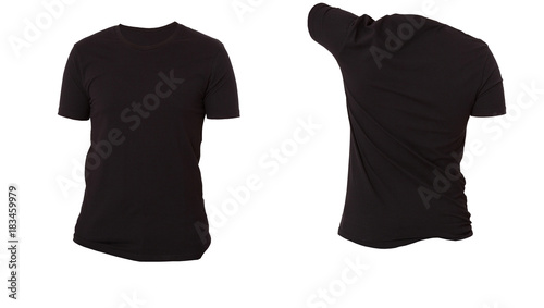 Tshirt Template Front And Back View Mock Up Isolated On White - Blank tshirt template