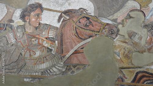 Printed kitchen splashbacks Historical buildings Alexander the Great versus Darius