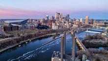 Minneapolis Skyline At Sunrise...
