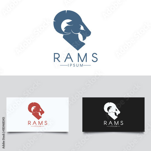 Tablou Canvas Ram Logo Template. Three color versions