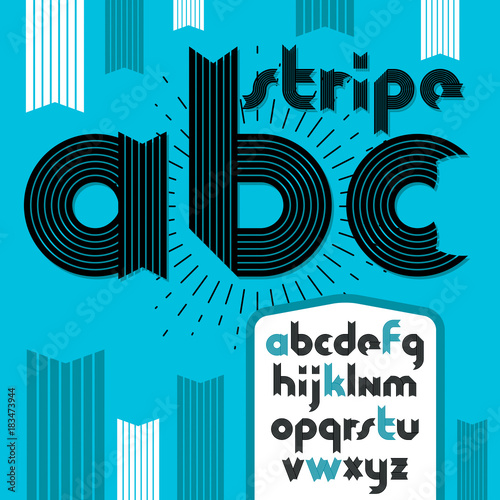 Set Of Trendy Modern Vector Lowercase Alphabet Letters Abc Isolated Funky Bold Font For