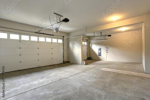Empty spacious garage interior Wallpaper Mural