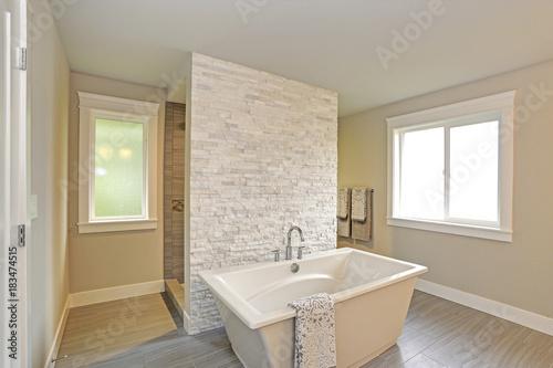 Fotografie, Obraz  Amazing master bathroom with a freestanding bathtub