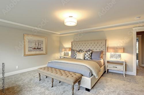 Photo  Luxury master bedroom interior .