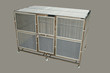 Cage stainless for pet or all animal and protect mosquito on gray background. Concept pet supplies