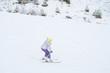 little girl skiing
