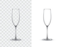 Realistic Wine Glasses, Champa...