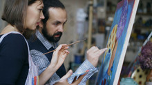 Skilled Artist Teacher Showing...