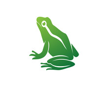 Frog Green Animals Logo And Symbols