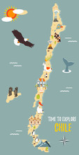 Map Of Chile With Destinations...