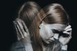 Leinwandbild Motiv Female with mood disorder