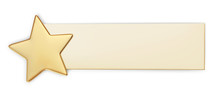 Gift Card With Gold Star