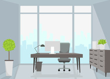 Office Interior. Vector Illust...