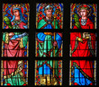 canvas print picture - Stained Glass - Catholic Saints
