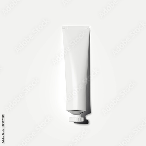 White cosmetic tube. 3d rendering Fototapete