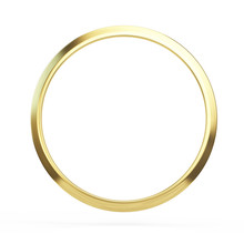 Gold Ring Isolated On White Ba...