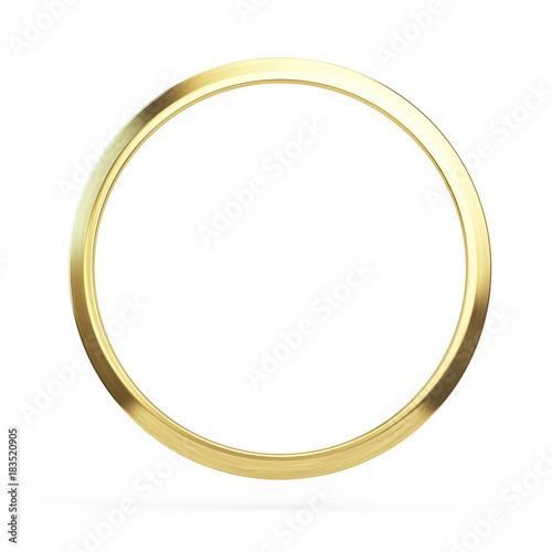Fotografie, Obraz  Gold ring isolated on white background - 3d illustration