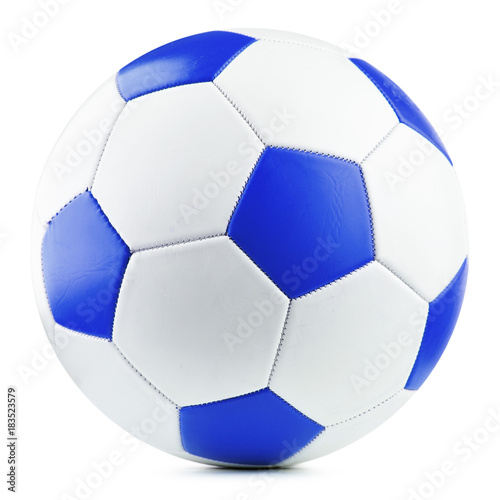 Spoed Foto op Canvas Bol Leather soccer ball isolated on white background