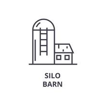 Silo, Barn Line Icon, Outline ...