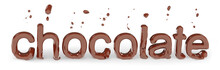 Melted Chocolate, Chocolate Letter, Isolated 3d Rendering