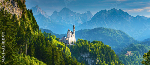 Wall Murals Blue jeans Neuschwanstein castle, Germany