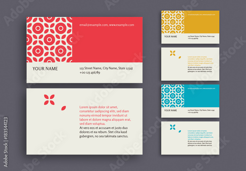 Patterned business card in 3 color palettes buy this stock template patterned business card in 3 color palettes colourmoves Choice Image