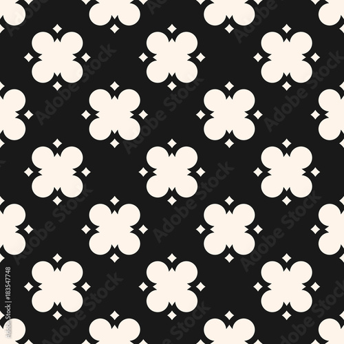 geometric-floral-pattern-vector-abstract-black-and-white-seamless-texture-cross-pattern