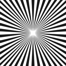 Black & White Sunburst Backgro...