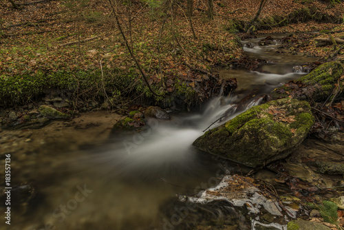 Bansky creek in autumn morning near Spania Dolina Canvas Print