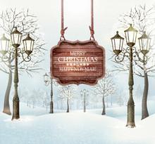 Christmas Winter Landscape Wit...