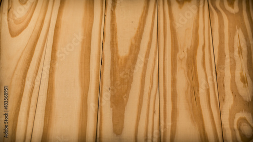 Tuinposter Hout Copyspace above real textured pine wood plank with beautiful natural pattern. Vintage color toned.