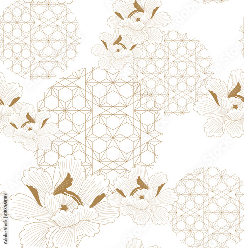 Foto  Chinese pattern seamless vector