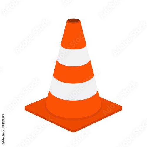 Fototapeta  Traffic cone, equipment for safety, road