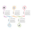 Modern clean business circle DNA style timeline banner. Vector. can be used for workflow layout, diagram, number step up options, web design, infographics