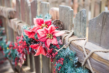 Wood Fence Decorated For Chris...