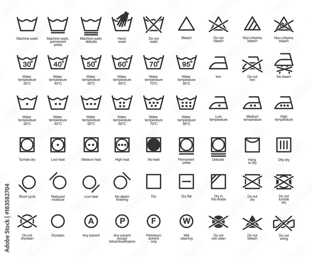 Fototapety, obrazy: Laundry Vector Icons set, full collection