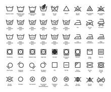 Laundry Vector Icons Set, Full...