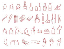 Manicure And Pedicure Icons Ve...