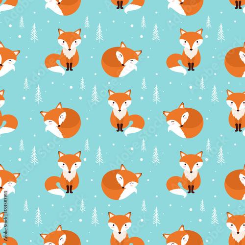 fox-wzor-ilustracji-wektorowych