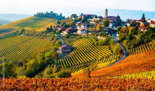 Italy village in autumn Wallpaper Mural