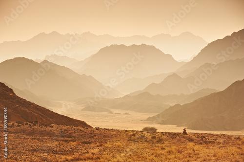 Türaufkleber Beige Valley in the Sinai desert